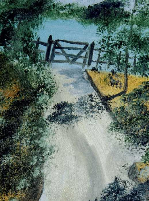 The Gate Painting - The Gate by Paul james  Schumann