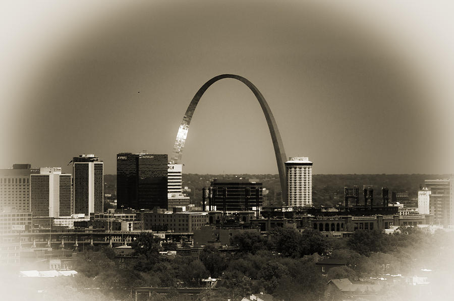 St. Louis Photograph - The Gateway Arch by Kristy Creighton