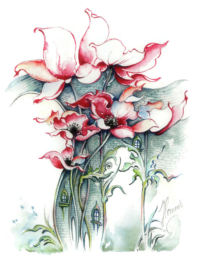 Poppies Painting - The Gateway to Imagination by Anna Ewa Miarczynska