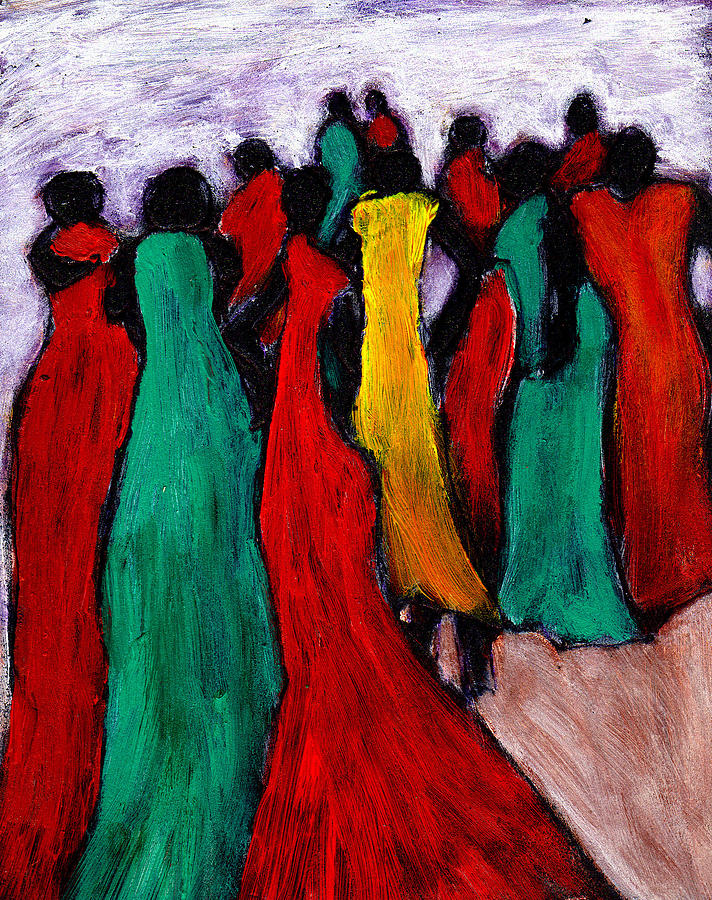 Ethnic Painting - The Gathering by Wayne Potrafka