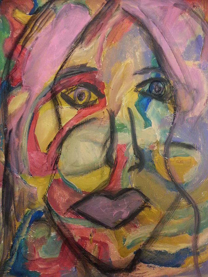 Abstract Painting - The Gaze by Patricia Byron