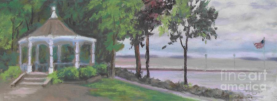 The Gazebo at Lakeside Ohio Painting by Terri  Meyer