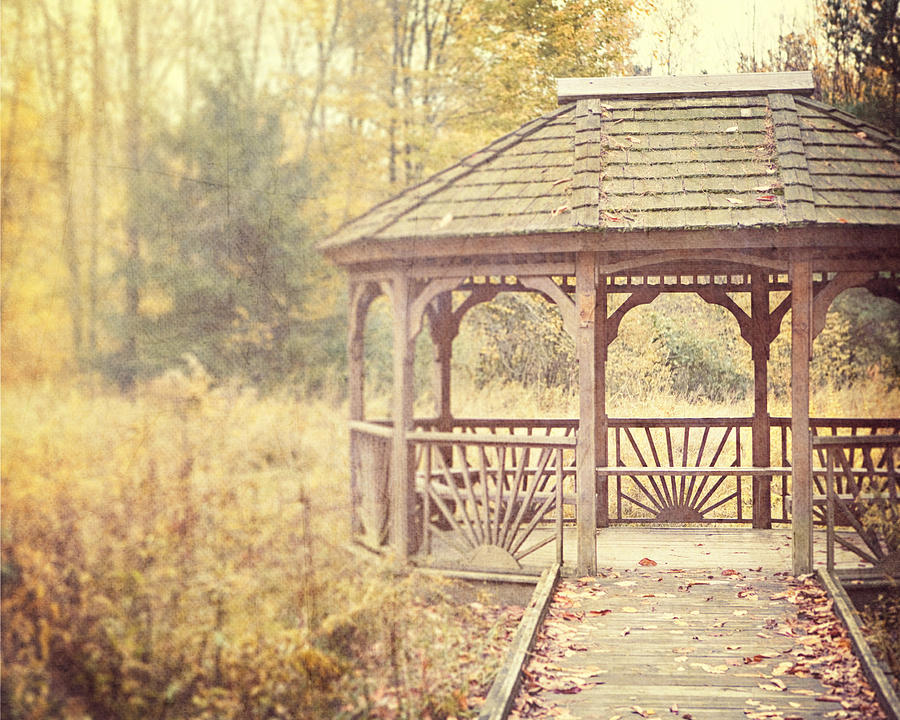 Gazebo Photograph - The Gazebo In The Woods by Lisa Russo
