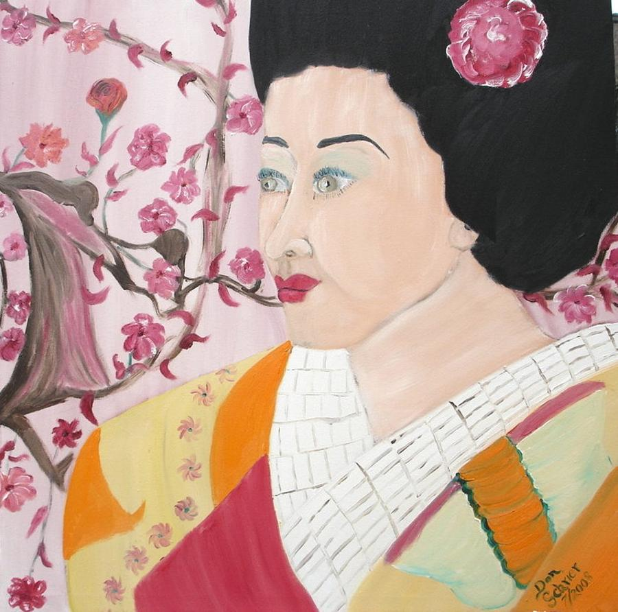 People Painting - The Geisha by Donald Schrier