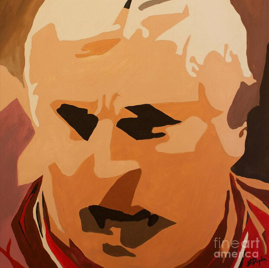 Coach Painting - The General- Bobby Knight by Steven Dopka