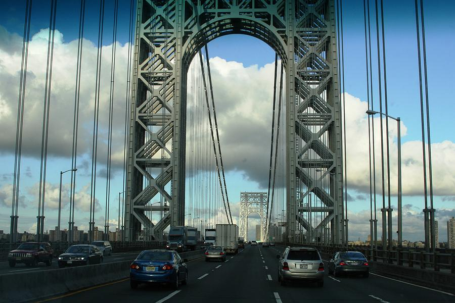 Bridge Photograph - The George Washington Bridge  by Paul SEQUENCE Ferguson             sequence dot net