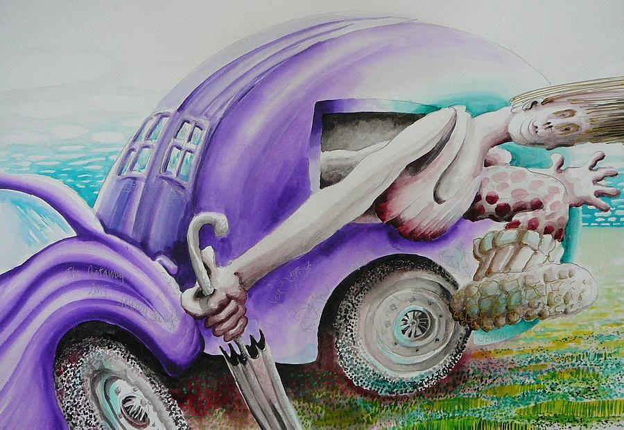 Caravan Painting - The Get Away by Jeffrey Service