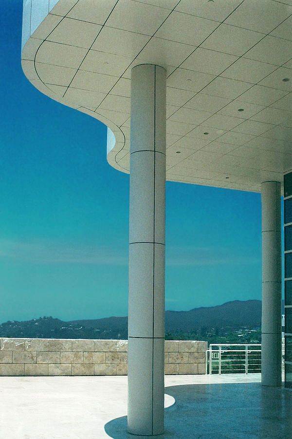 Architecture Photograph - The Getty Panel 2 Of Triptyck by Steve Karol