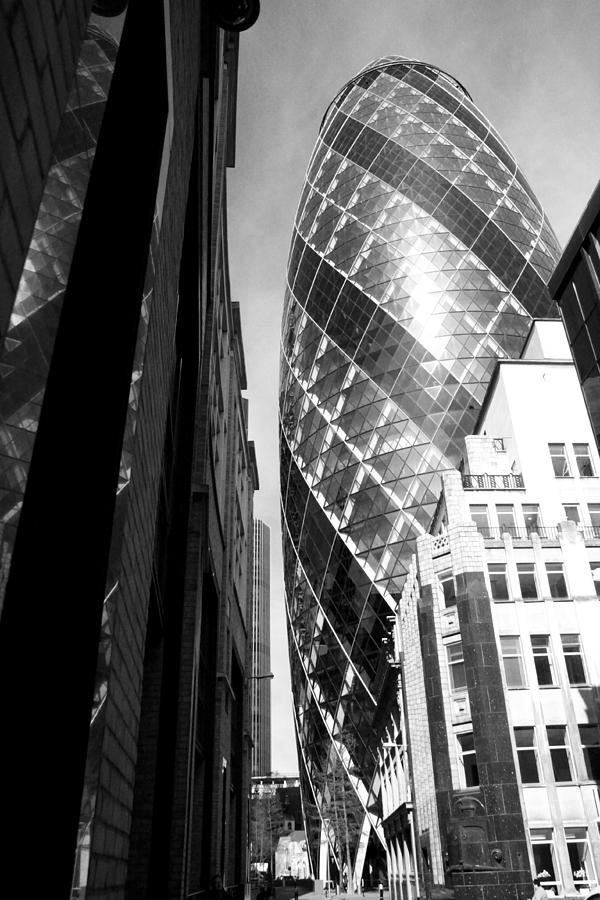 The Gherkin in Black and White by Julius Reque