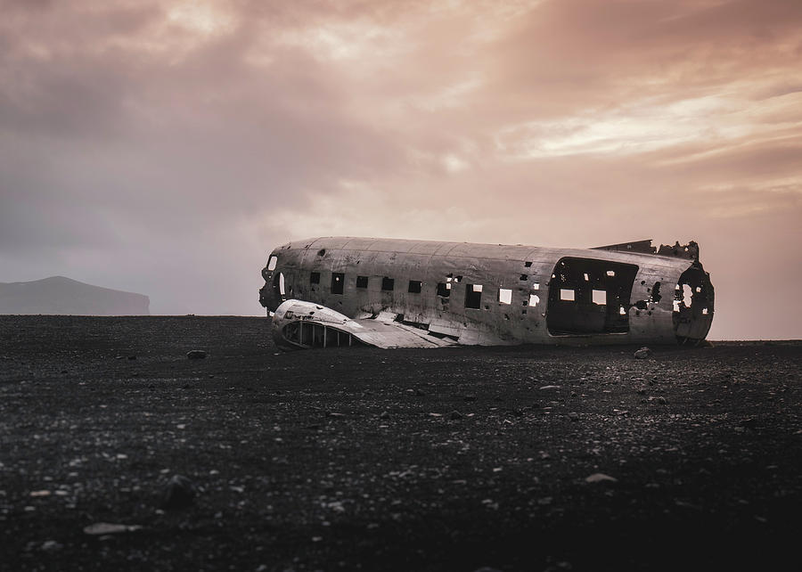2018 Photograph - The ghost - plane wreck in Iceland by Dalibor Hanzal