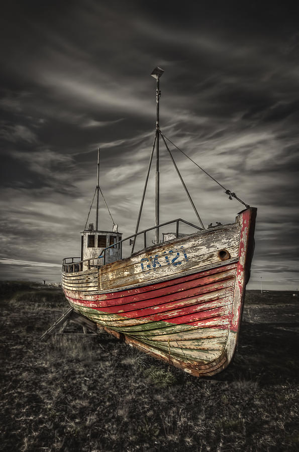 Boat Photograph - The Ghost Ship by Evelina Kremsdorf