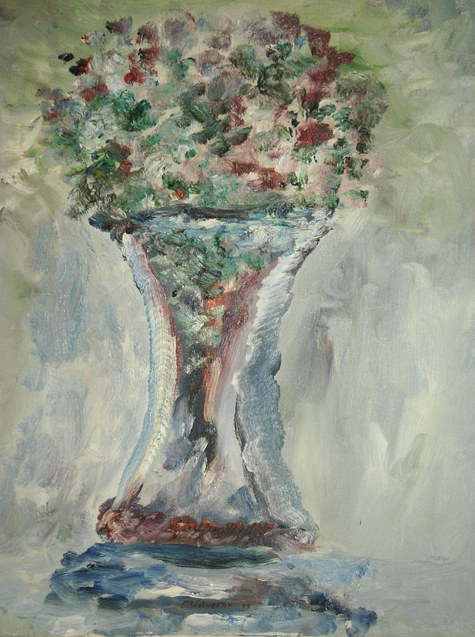 Still Life Painting - The Giant Goblet Vase by Edward Wolverton