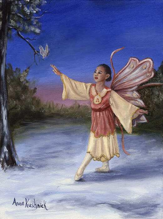 Christmas Painting - The Gift by Anne Kushnick