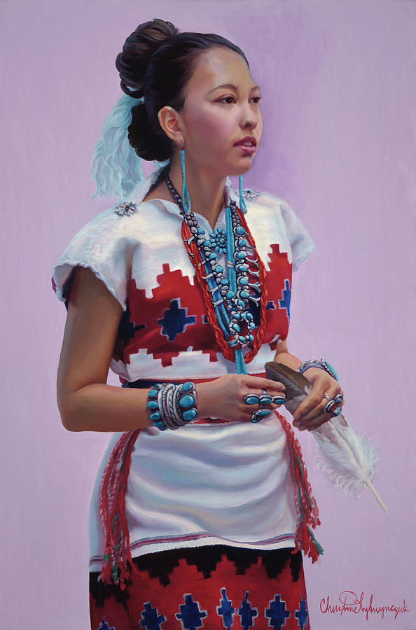 Native American Painting - The Gift by Christine Lytwynczuk