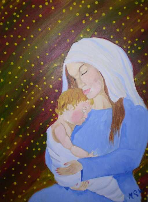 People Painting - The Gift by Christine Ward