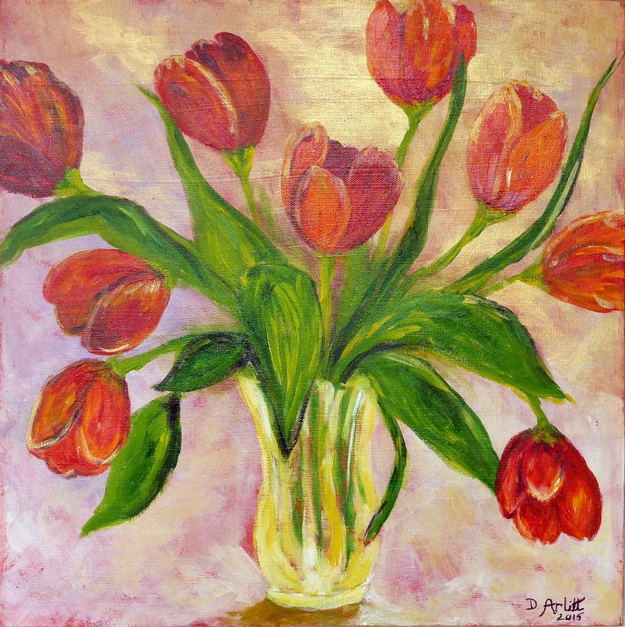 Tulips Painting - The Gift by Diane Arlitt