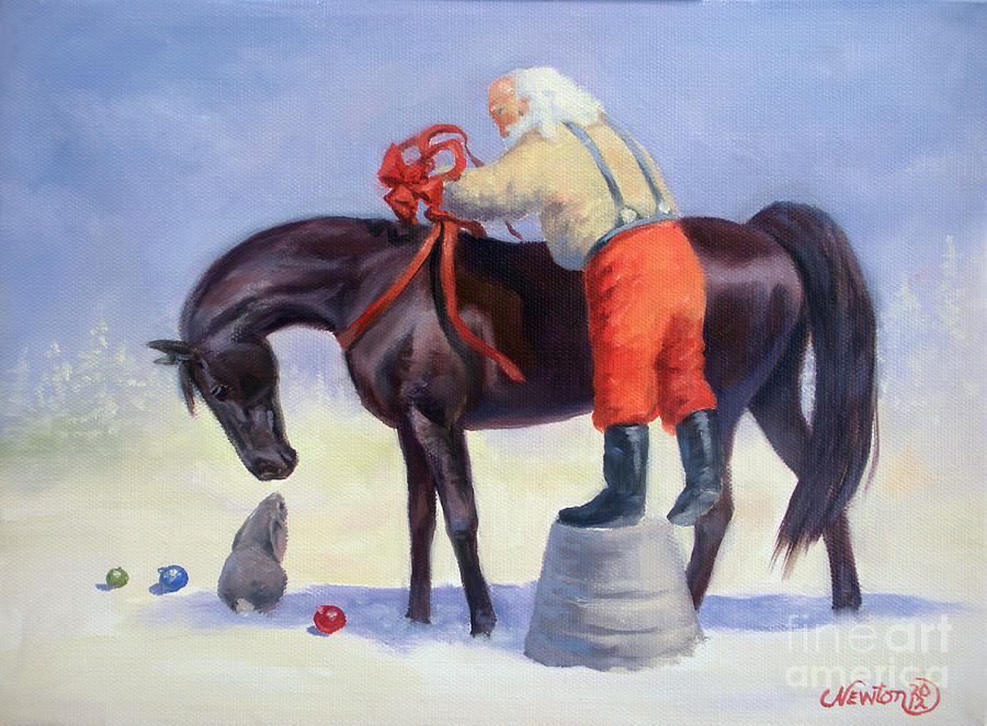 The gift horse painting by jeanne newton schoborg horse painting the gift horse by jeanne newton schoborg negle Images