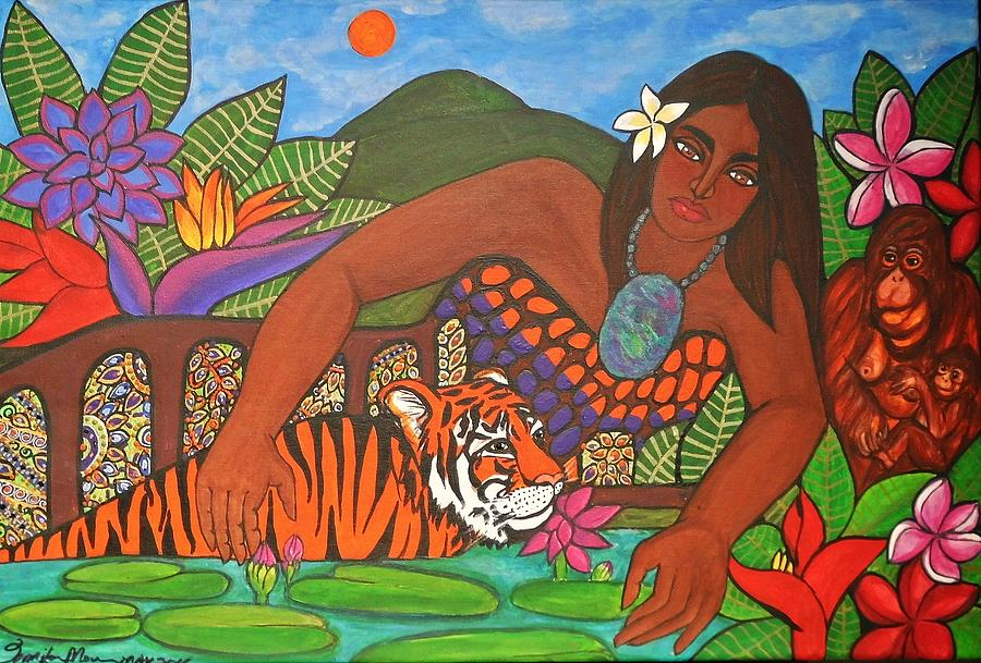 Mother Earth Painting - The Gift by Jennifer Mourin