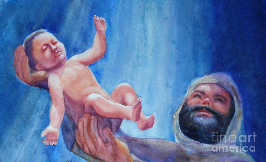 Jesus Painting - The Gift by Marilyn Jacobson
