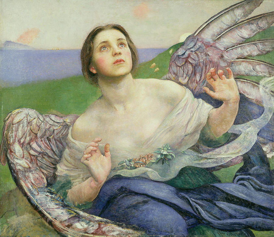 The Painting - The Gift Of Sight by Annie Louisa Swynnerton