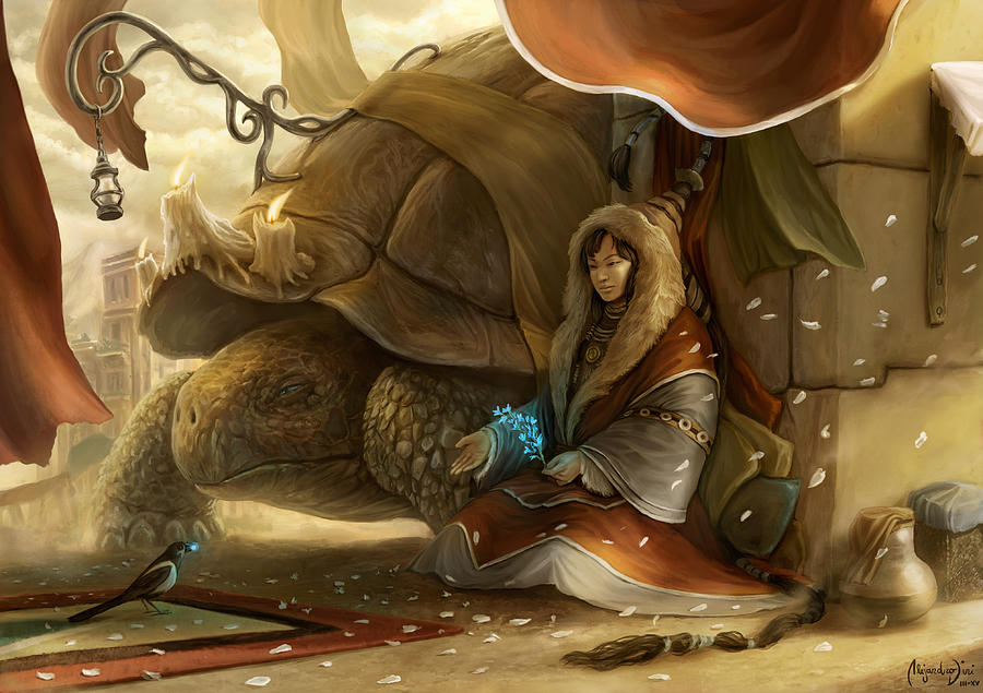 Turtle Digital Art - The Gift of the Sages by Alejandro Dini