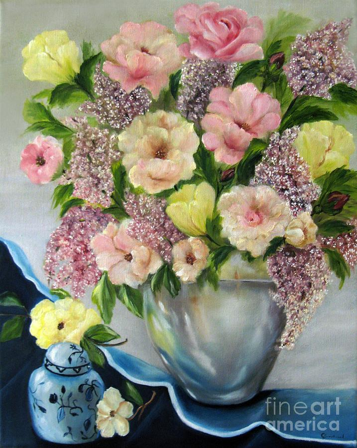 Still Life Painting - The Ginger Jar by Carol Sweetwood