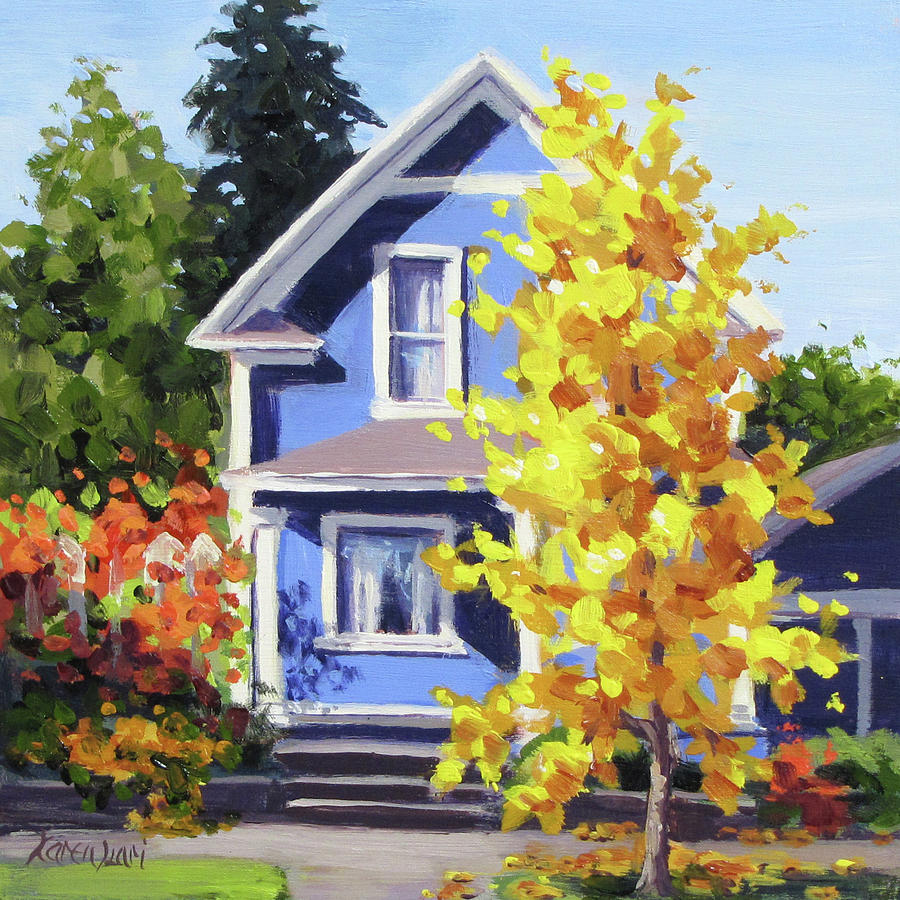 The Ginkgo Tree Painting by Karen Ilari
