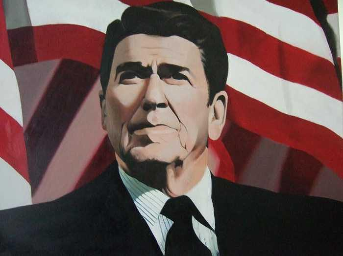 Ronald Reagan Painting - The Gipper by William Parsons