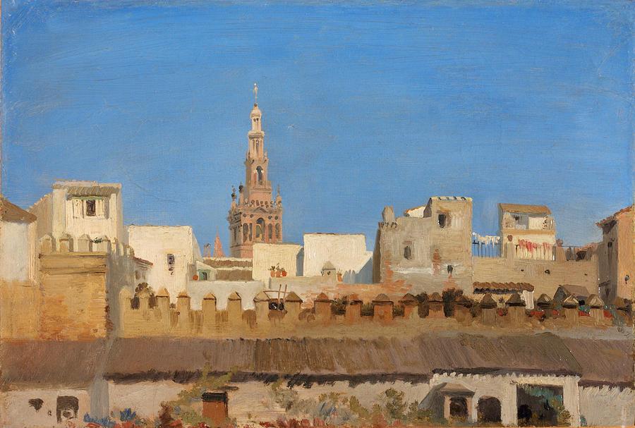 Seville Painting - The Giralda. Seville by Adrien Dauzats