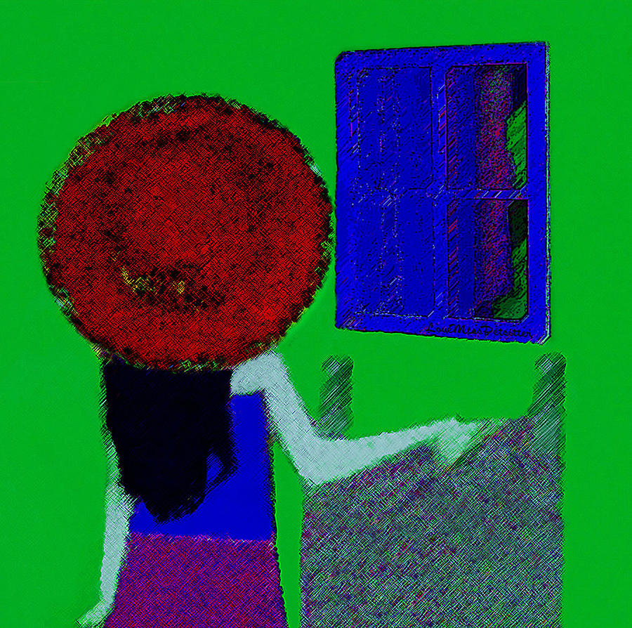 Arts Digital Art - The Girl In The Mirror by Miss Pet Sitter