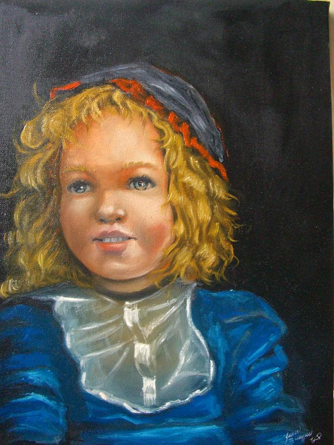 Portrait Painting Painting - The Girl by Jesus Miguel Rosado Perdomo