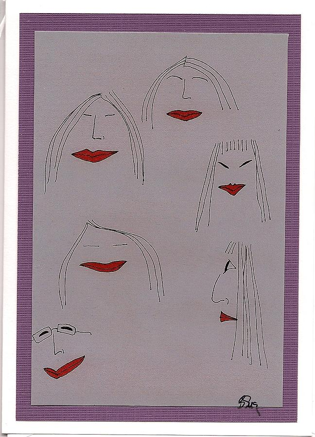 Girls Drawing - The Girls by Bridget Sweeney
