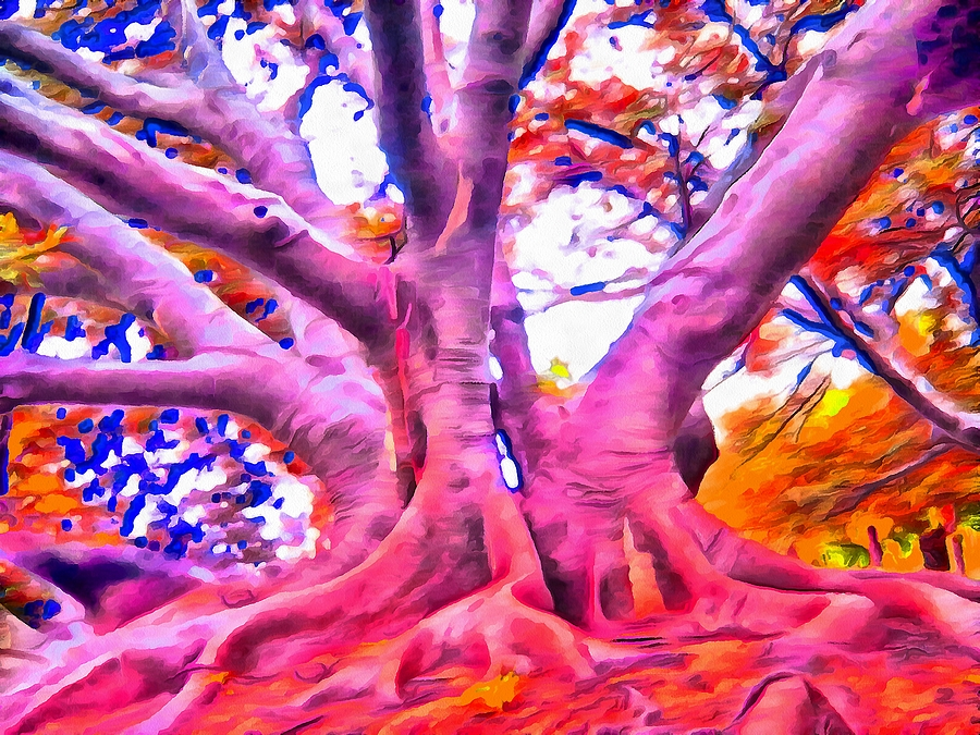 Tree Mixed Media - The Giving Tree 3 by Angelina Tamez