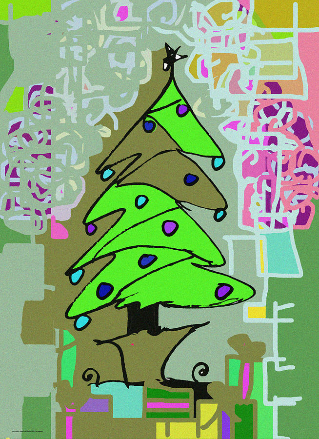 Christmas Digital Art - The Giving Tree by Angelina Marino