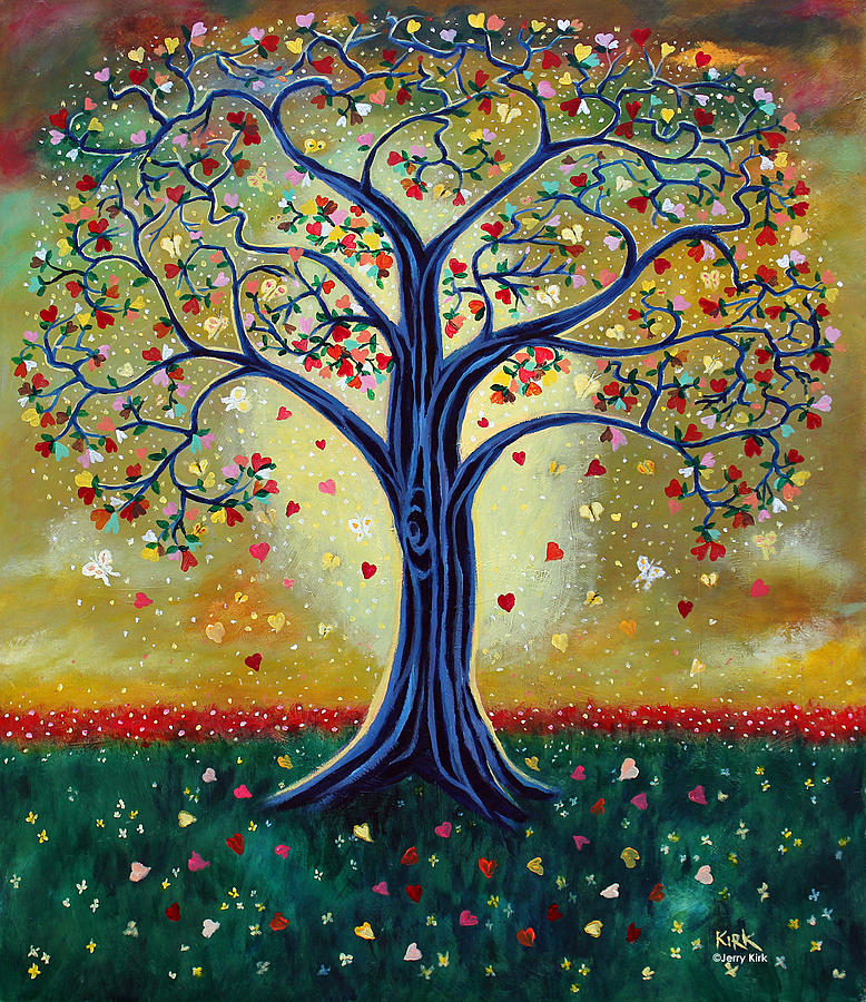 Painting Painting - The Giving Tree by Jerry Kirk