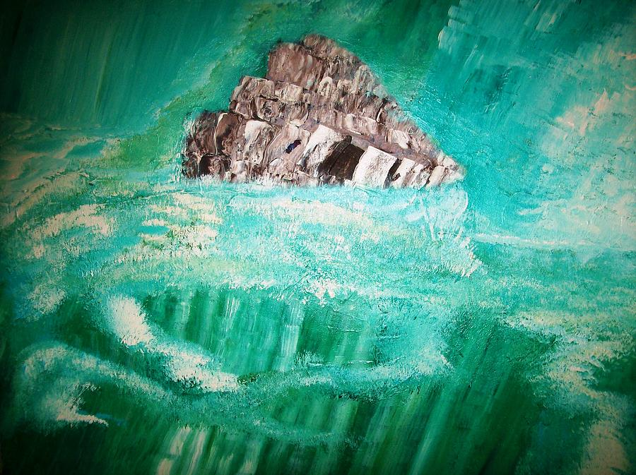 Abstract Painting - The Glacier by Roy Penny