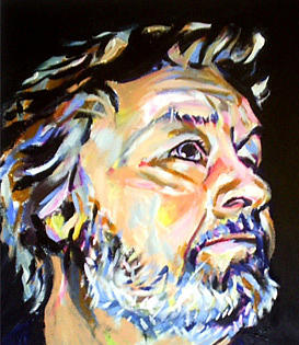 Male Portrait Painting - The Gladiator by Davinia Hart