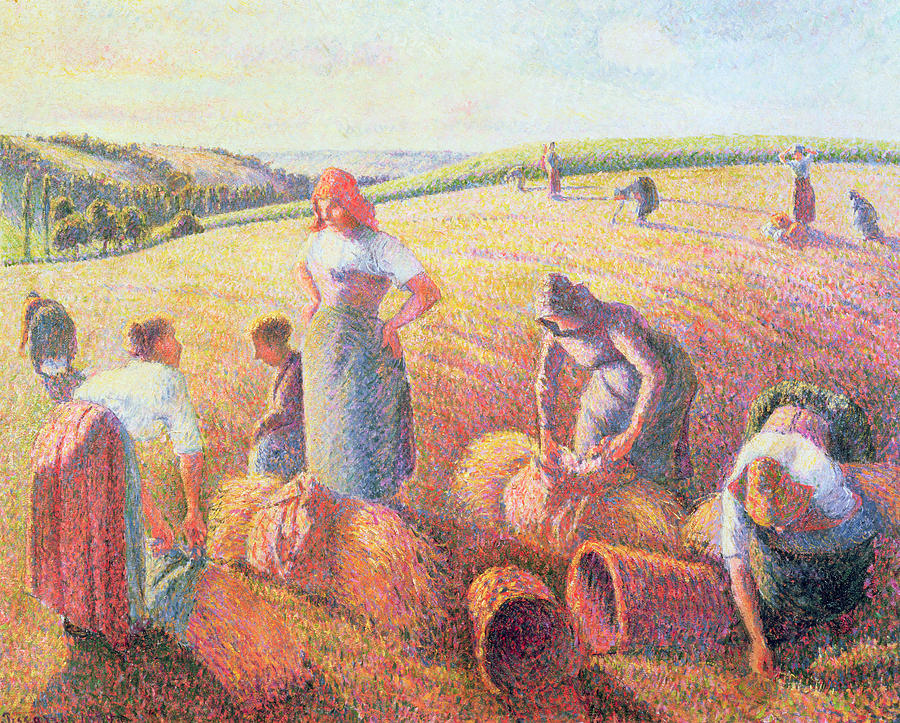 The Painting - The Gleaners by Camille Pissarro