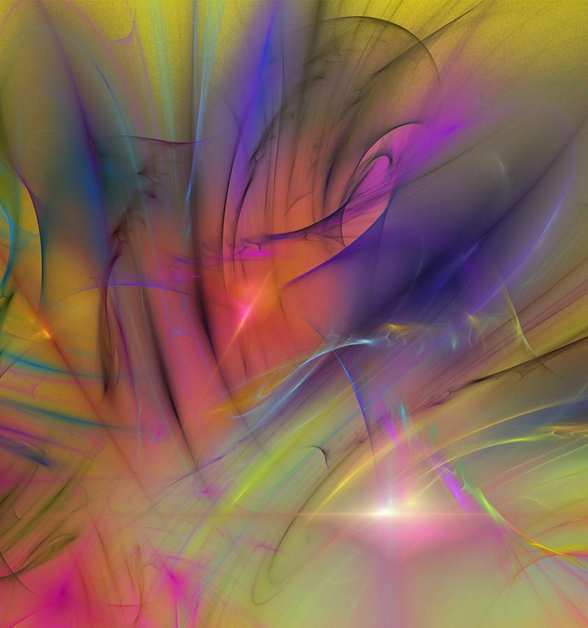 Abstract Digital Art - The Gloaming by David Lane