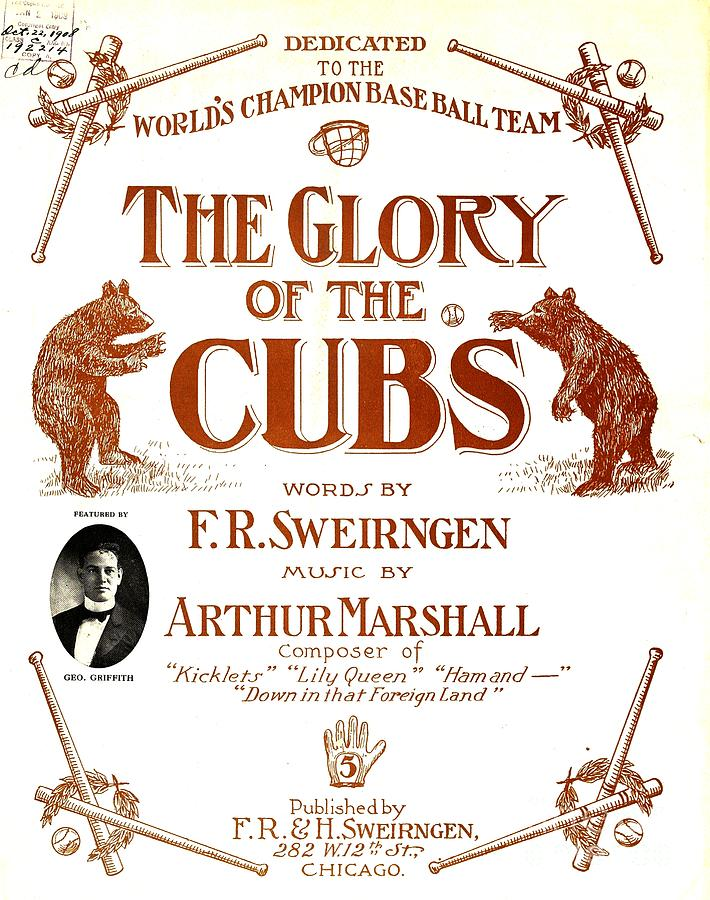 Chicago Cubs Mixed Media - The Glory of the Cubs Chicago Cubs Poster 1908 by Peter Ogden Gallery
