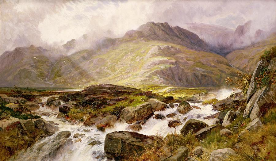 The Painting - The Glyder Fawr  by Edwin Pettitt