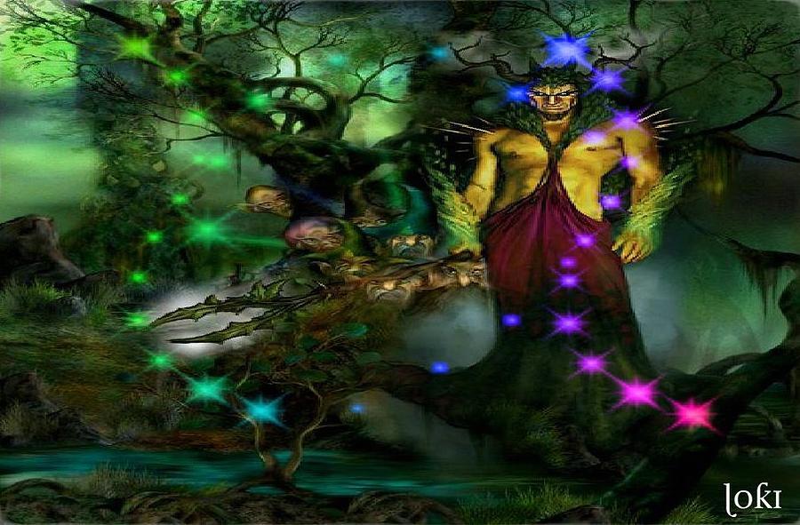 Fantasy Digital Art - The Gnome King by Loki Gwyn