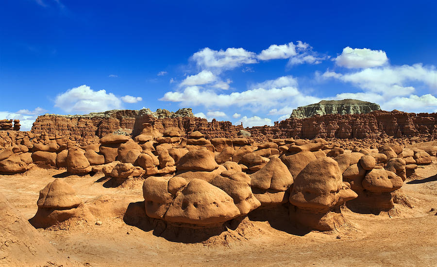 Goblin Valley Photograph - The Goblin Pano 4 by Tomasz Dziubinski