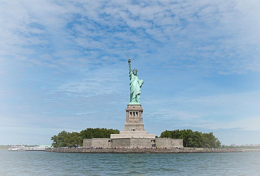 Statue Of Liberty Photograph - The Goddess Looks To The East by Robert Ponzoni