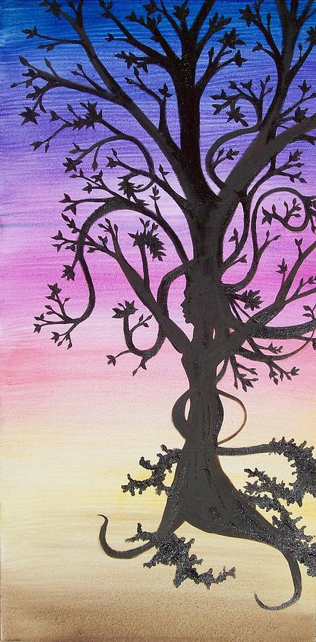 Tree Painting - The Goddess Tree by Amy Lauren Gettys