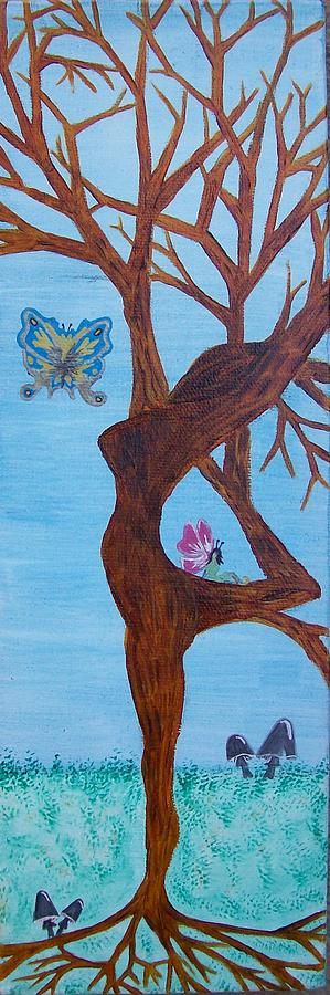 Tree Painting - The Goddess Tree In Daylight by Amy Lauren Gettys