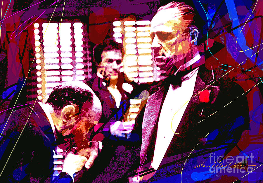 The Godfather Painting - The Godfather Kiss by David Lloyd Glover