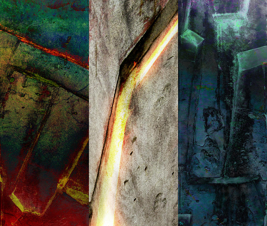 Zeus Digital Art - The Gods Triptych 2 by Ken Walker