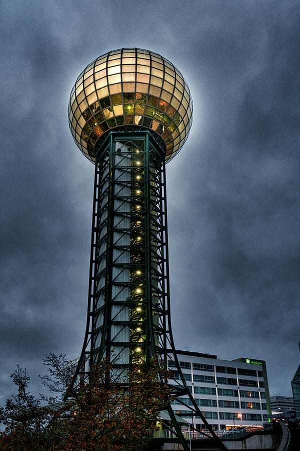 Knoxville Photograph - The Gold Ball At The Top by Sharon Popek