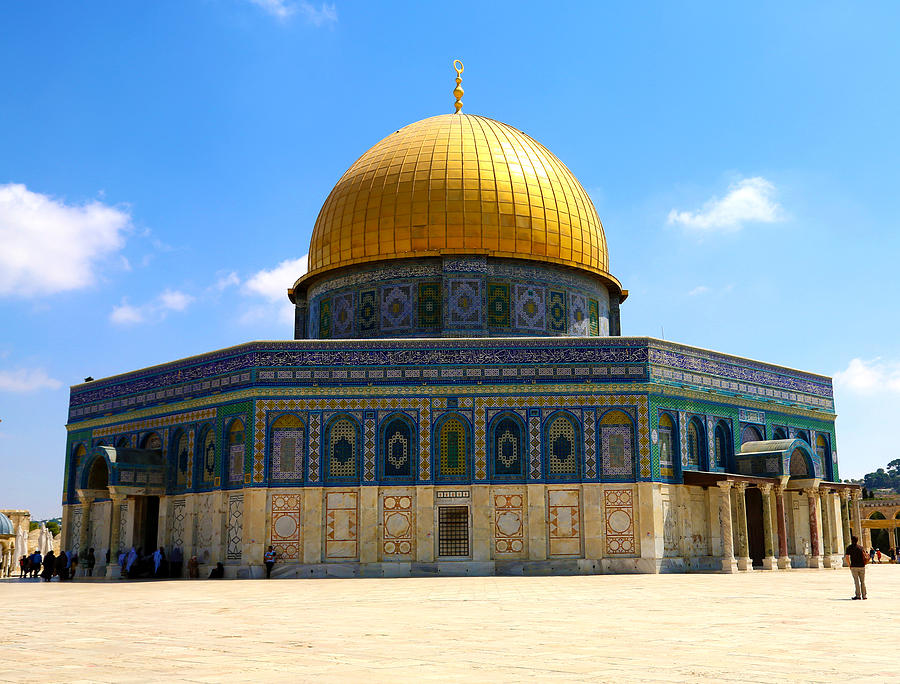 The Dome Of The Rock Photograph - The Gold Dome by Heidi Pix